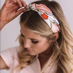 Fabric elastic boho head wrap/head band